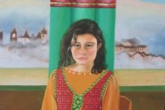Miriam figlia di Tamara - olio su tela - 50x60 - 2019